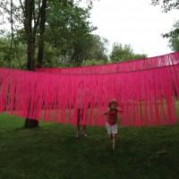 Sonic, 2014, vinyl curtain 7.5' x 23. x 4', site-specific installation: Four Corners Art Center, Tiverton, RI