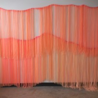 Hey Sunshine, 2015, vinyl curtain, 90 x 250 inches