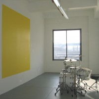 BEAT, 2007 acrylic paint, drum kit, live performance with musicians painted square: 8.5' x 8.5'
