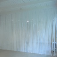 Electric, 2016, vinyl curtain, curtain: 10 x 17 feet, room size: 10 x 17 x 23.5 feet