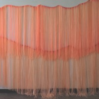 "Hey Sunshine, 2015, vinyl curtain, 90"" x 250"""