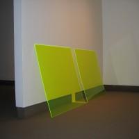 """Norse Wall, 2007, Plexiglas, acrylic paint, 45"""" x 100"""" x 4"""""""
