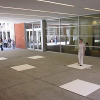 Postscript, 2010 dance performance on five birch plywood boards white acrylic paint on birch plywood  boards: 4' x 4' each