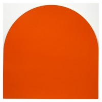 """Tangerine drawing 1, 2013 acrylic paint on paper 12"""" x 12"""""""