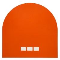 "Tangerine 2, 2013 acrylic paint on paper 12"" x 12"""