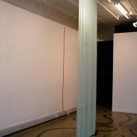 The Audacity of Hope, 2004 chiffon, acrylic paint 10' x 6.5' x 3.5' site-specific installation: New Arts Program, Kutztown, PA