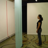 The Audacity of Hope, 2004 chiffon, acrylic paint 10′ x 6.5′ x 3.5′ site-specific installation: New Arts Program, Kutztown, PA