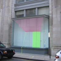 Tropic, 2008 chiffon, tape, Plexiglas 12x15x3 ft