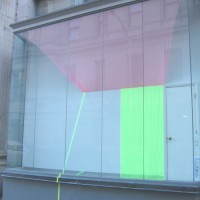 Tropic, 2009 chiffon, acrylic, Plexiglas12' x 15'x 3'