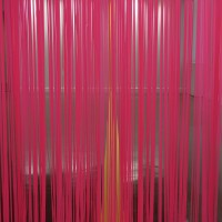 What You Dance Like, 2016, vinyl curtain, adhesive vinyl, room size: 9x16x35 feet