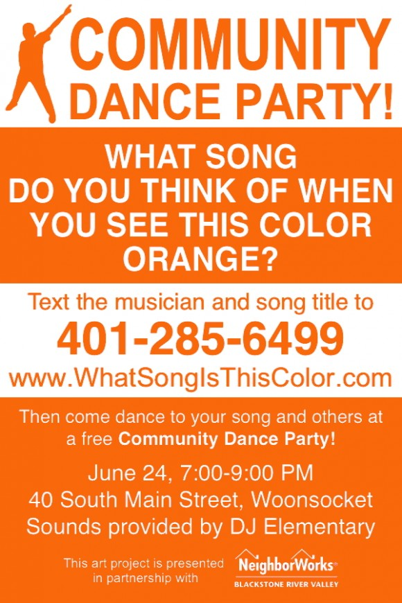 4x6 dance postcard